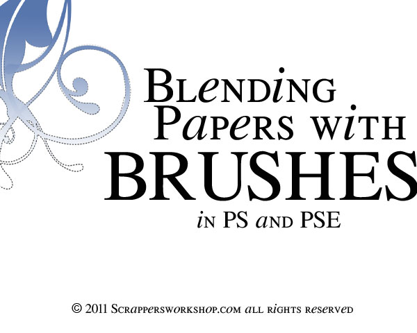 Quick Tip Tuesday – Blend your Papers with Brushes!